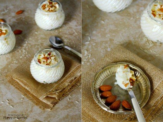 Creamy And Delicios Almond & Rice Pudding