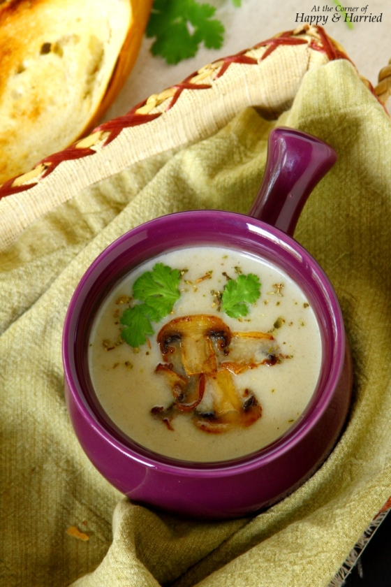 Creamy Kohlrabi And Mushroom Soup