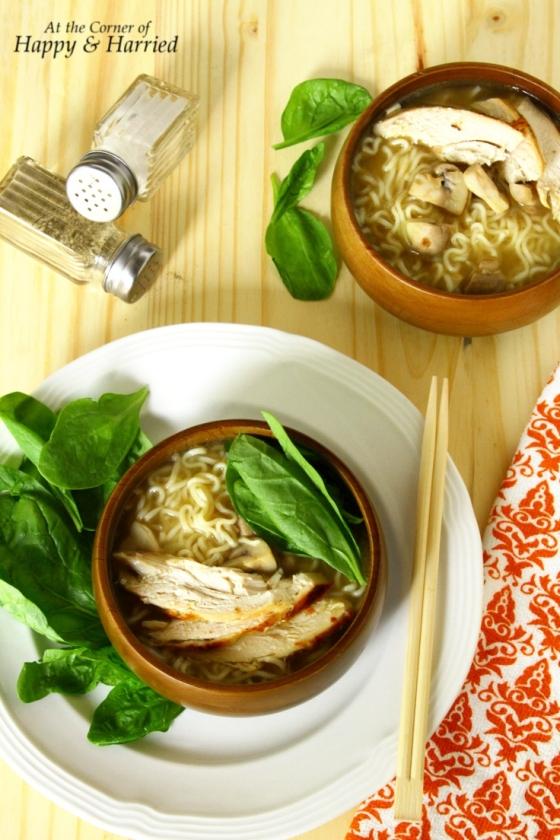 Dress Up Ramen - Easy Recipe For Roasted Chicken Ramen Noodle Soup