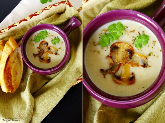 Kohlrabi-Mushroom Soup