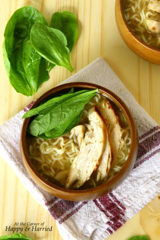 Roast Chicken & Ramen Noodle Soup