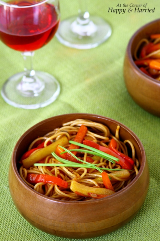 Vegetable Lo Mein With Egg Noodles