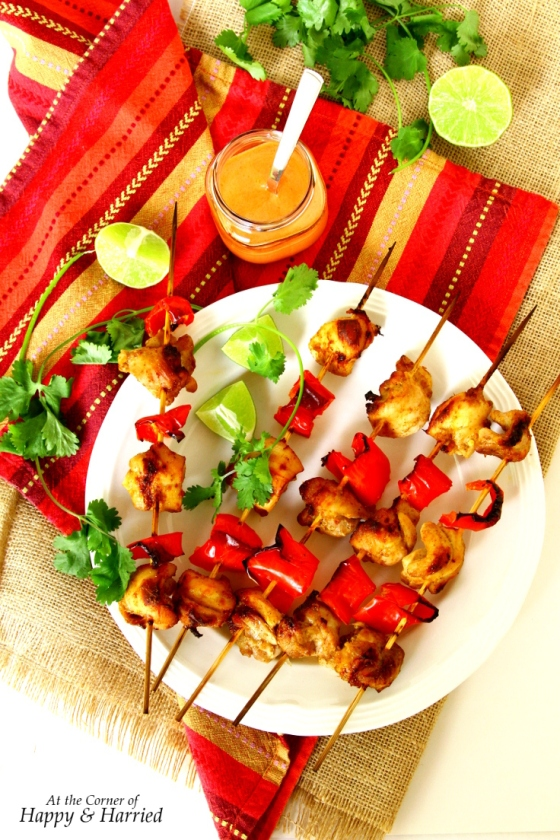 Chicken & Red Pepper Tikka Skewers