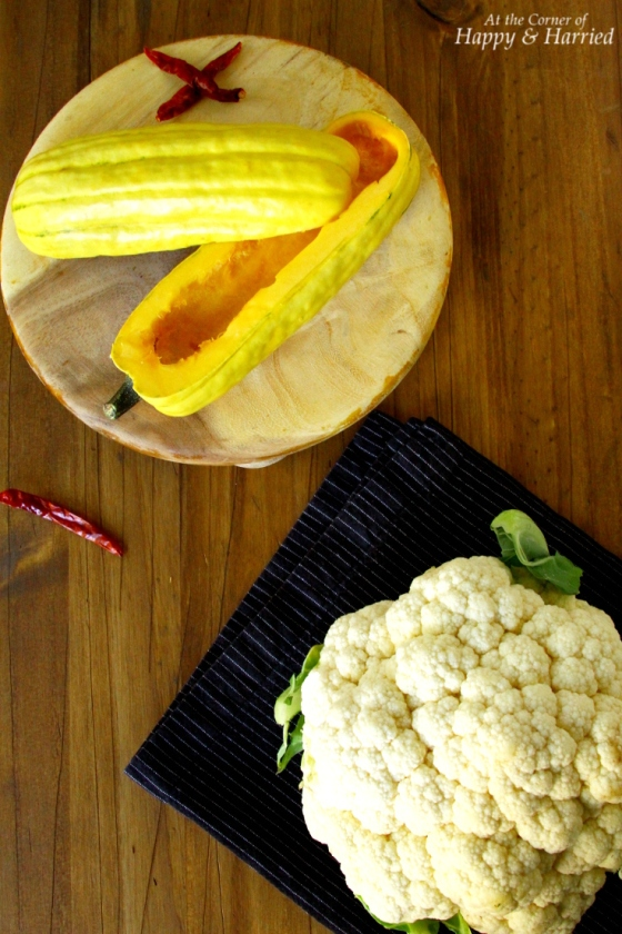 Delicata Squash & Cauliflower For Soup