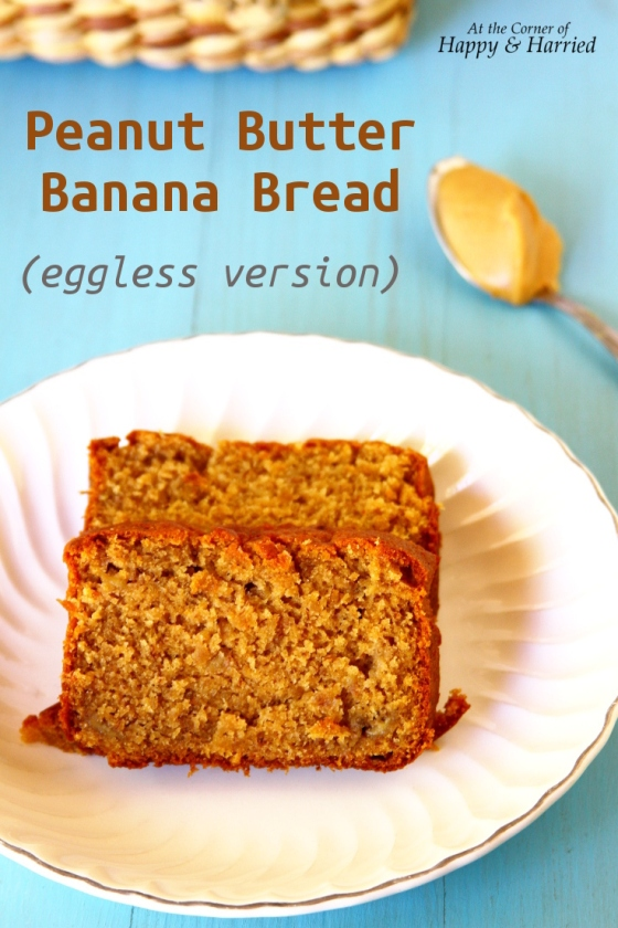 Eggless Peanut Butter Banana Bread With Brown Sugar And Yogurt