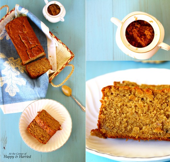 Eggless Peanut Butter-Brown Sugar-Yogurt Banana Bread