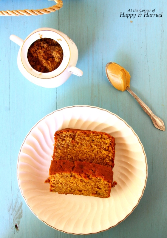 Eggless Peanut Butter-Yogurt Banana Bread