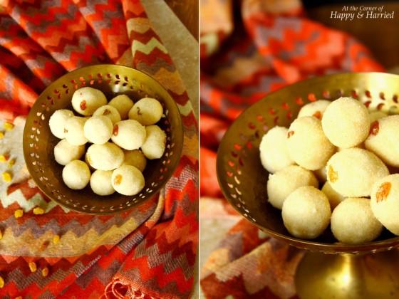 Indian Sweet Semolina Balls - Rava Laddu