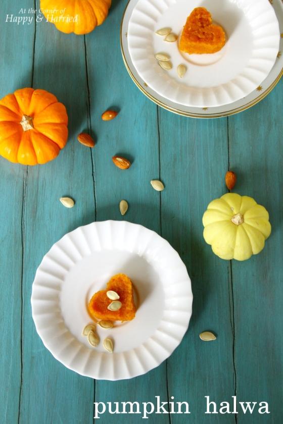 Orange Pumpkin Halwa {Indian Pumpkin Pudding Dessert}