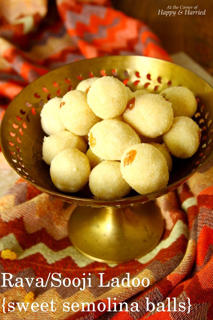 Rava / Sooji Ladoo {Sweet SemolinaBalls}