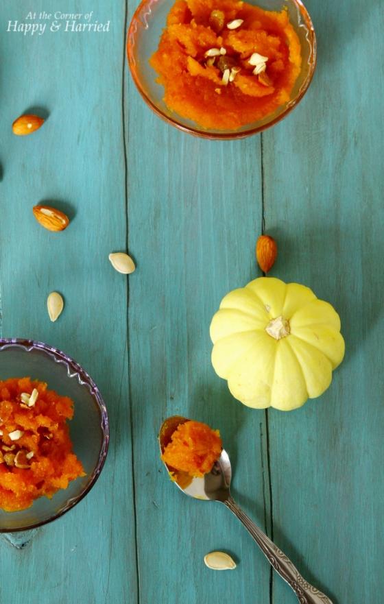 Rich & Delicious Pumpkin Halwa {Indian Pumpkin Pudding Dessert}
