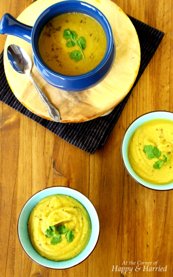 Spiced Cauliflower & Delicata Squash Soup