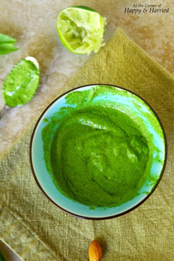 Spinach, Cilantro, Almonds And Lime Pesto