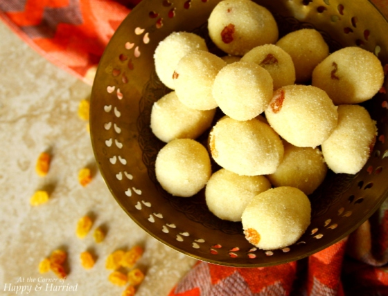 Sweet Semolina Balls - Rava Ladoo