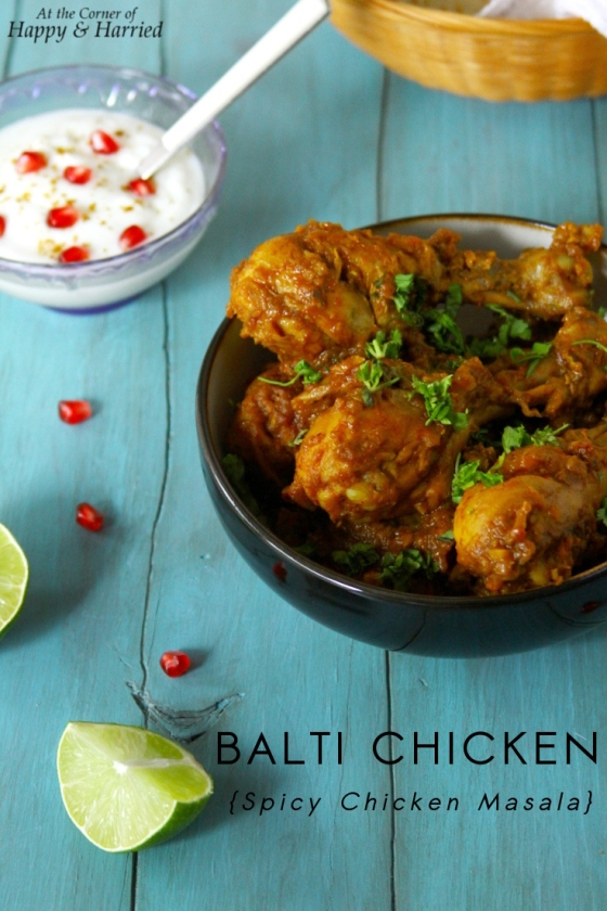 Balti Style Chicken {Chicken In A Spicy Masala}
