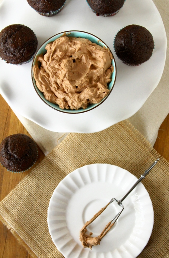 Chocolate & Coffee Whipped Cream Frosting