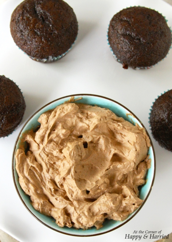Chocolate Cupcakes & Chocolate Whipped Cream