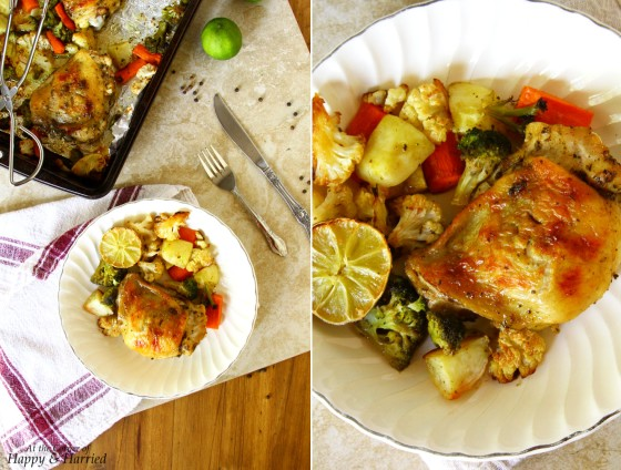 Herb Roasted Chicken & Vegetables With Garlic And Lime