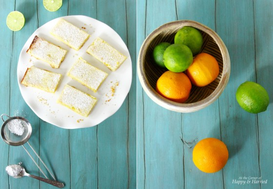 Orange & Lime Citrus Bars