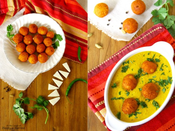 Paneer Kofta (Fried Indian Cottage Cheese Balls) Curry