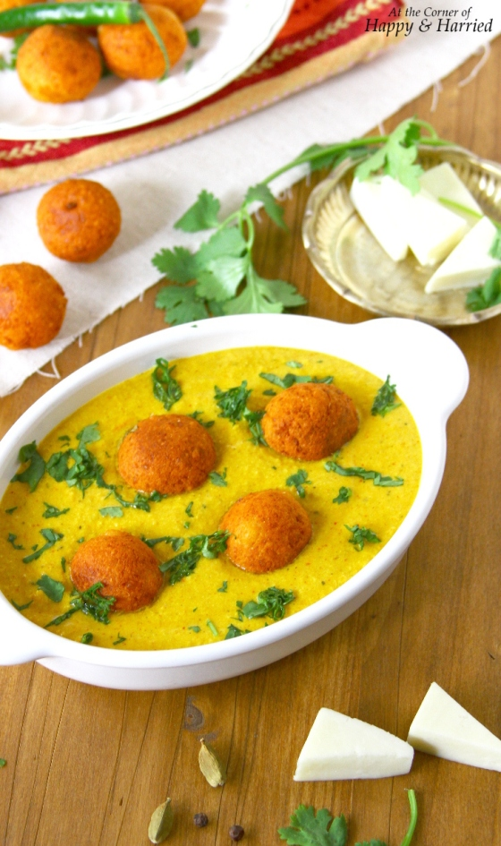 Paneer Kofta Korma {Indian Cottage Cheese Balls In A Mild Yogurt Curry}