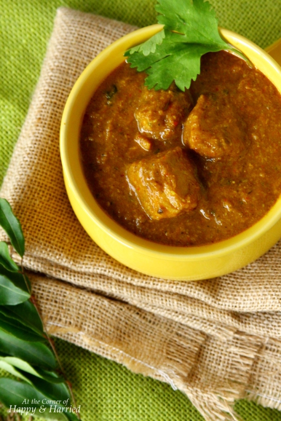 Chettinad Chicken Curry With Coconut, Red Chilis, Black Pepper, Cumin And Other Spices
