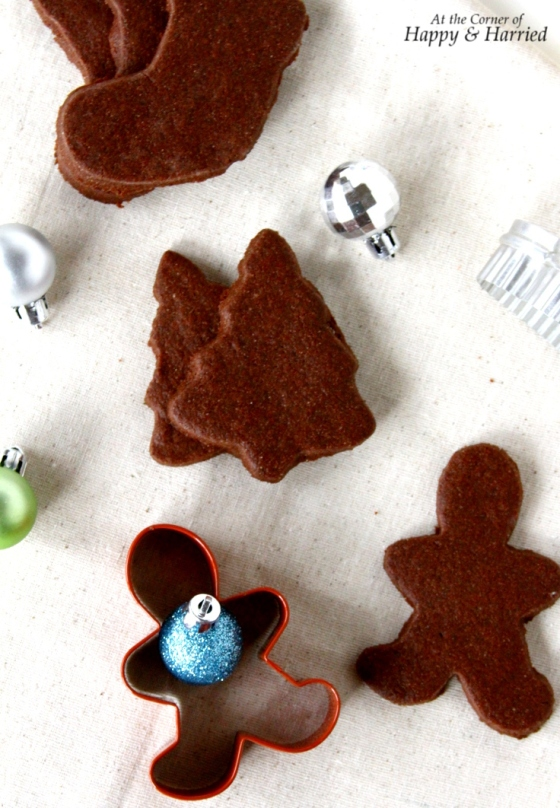 Chocolate Sugar Cookie Shapes