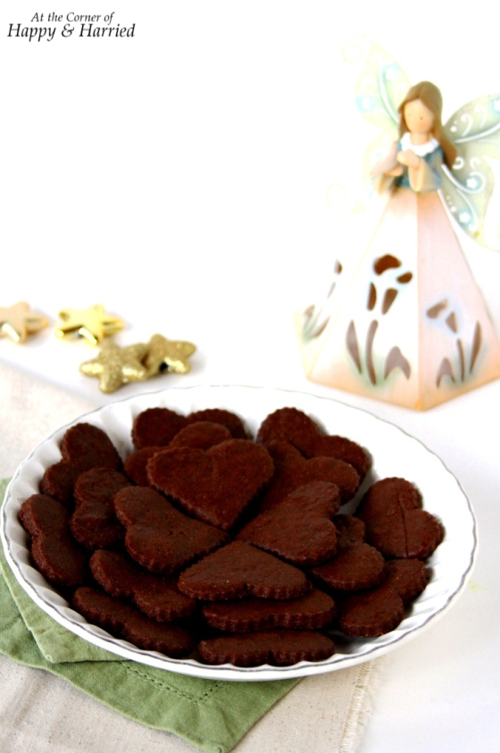 Chocolate Sugar Cutout Cookies For Christmas
