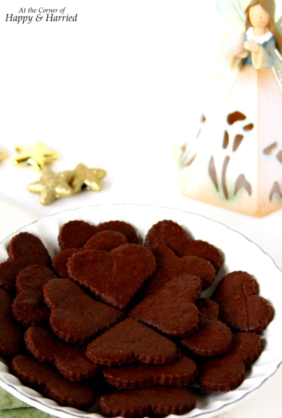 Chocolate Sugar Cutout Cookies {Made With Cocoa Powder}