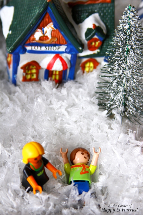 Crafting With Kids - Christmas Village Scene
