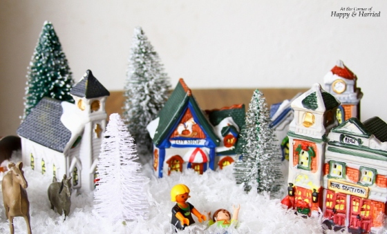 Crafting With Kids - Christmas Village