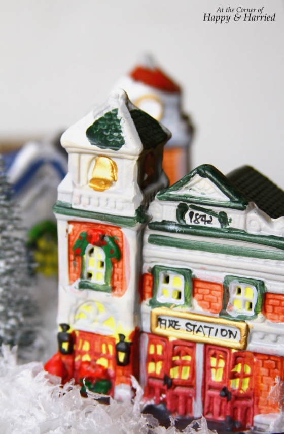 Crafting With Kids - Fire Station in Christmas Village