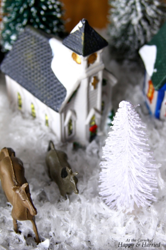 Crafting With Kids - Horses in Christmas Village