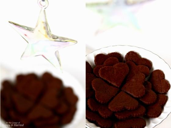Dark Chocolate Christmas Sugar Cookies