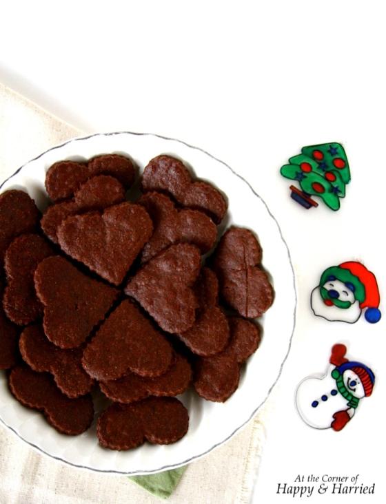 Dark Chocolate Sugar Cookies