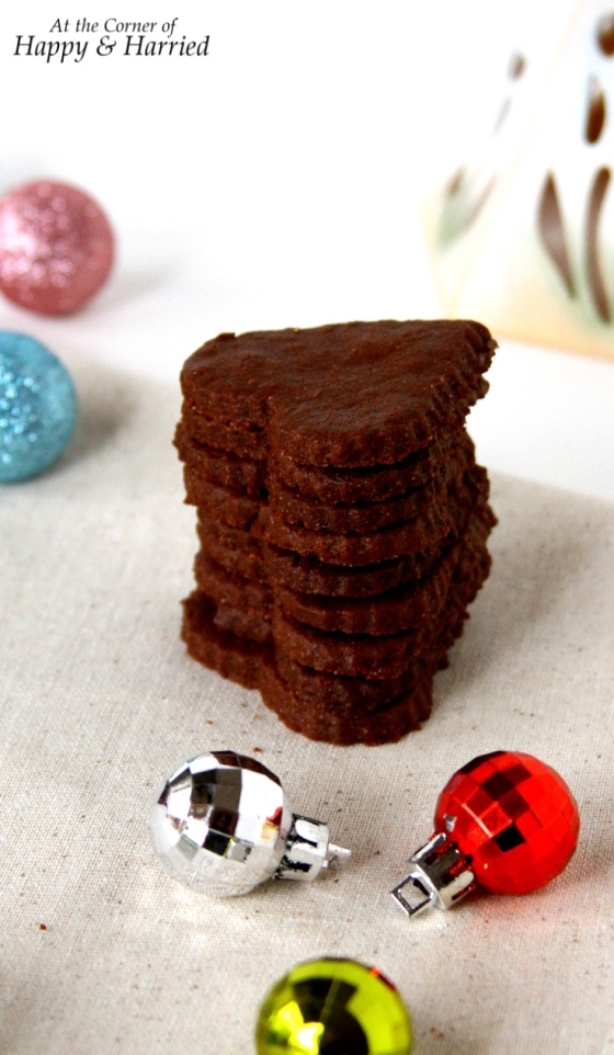 Heart Shaped Chocolate Sugar Cookies