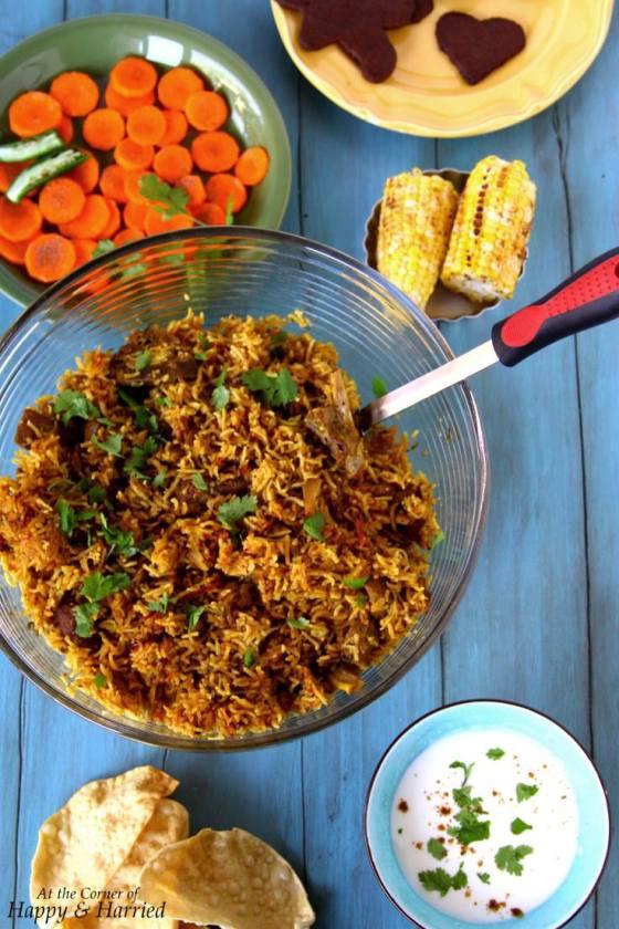Indian Christmas Lunch - Lamb Biryani, et al