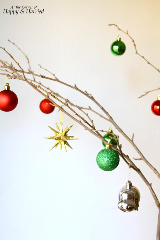 Rustic & Whimsical Twig Christmas Tree With Ornaments