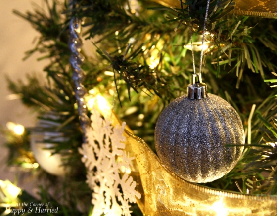 Silver Ball On Christmas Tree