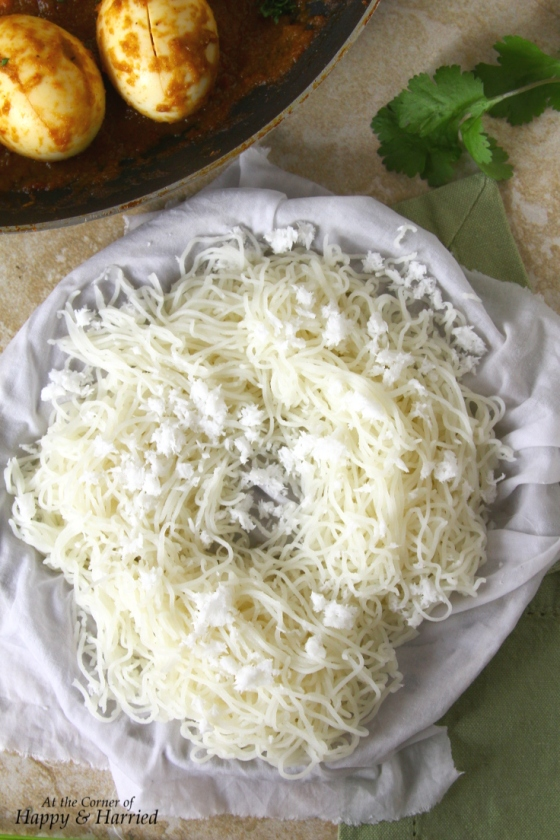 String Hoppers Or Idiyappam (Steamed Rice Flour Noodles)
