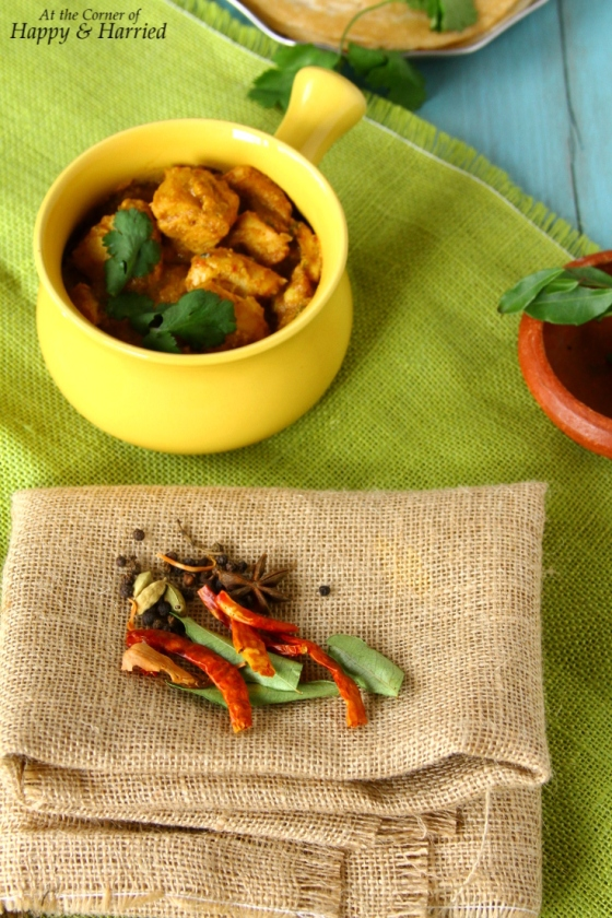 Whole spices For Chettinad Chicken Masala