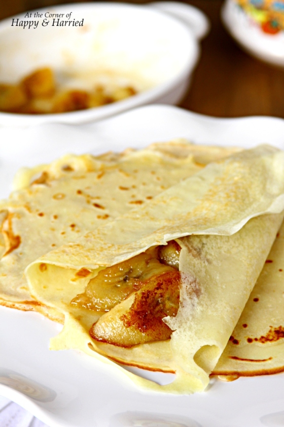 Crepes Filled With Caramelized Bananas