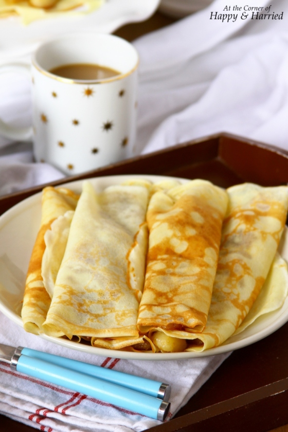 Delicate Caramelized Banana Crepes