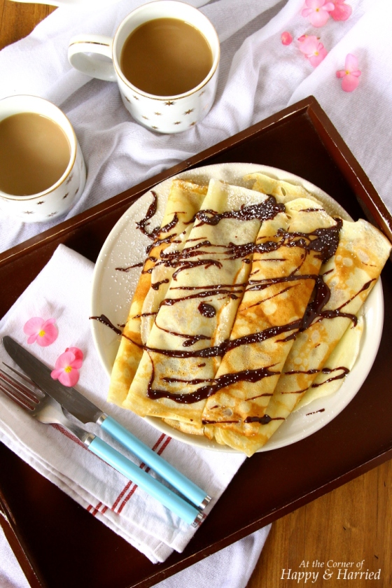 Delicate Homemade Crepes Filled With Caramelized Bananas
