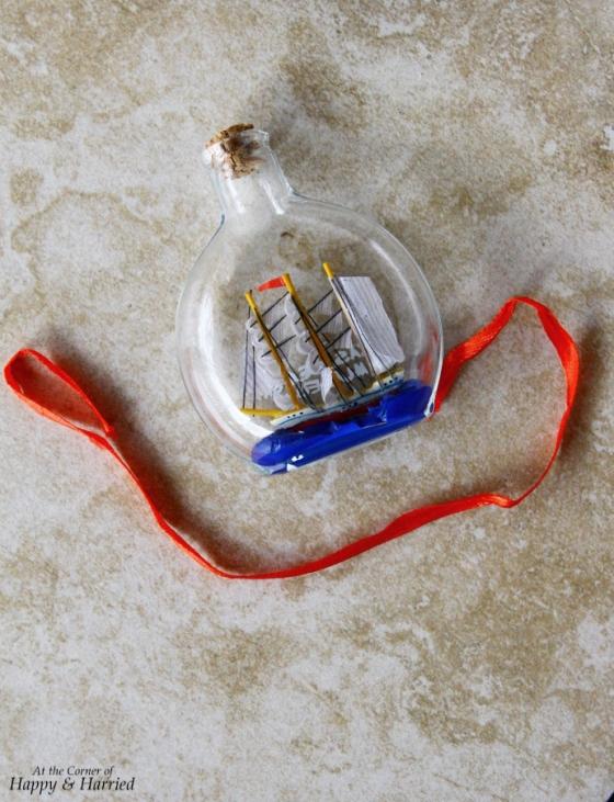 Elissa Ship In A Bottle Ornament Souvenir