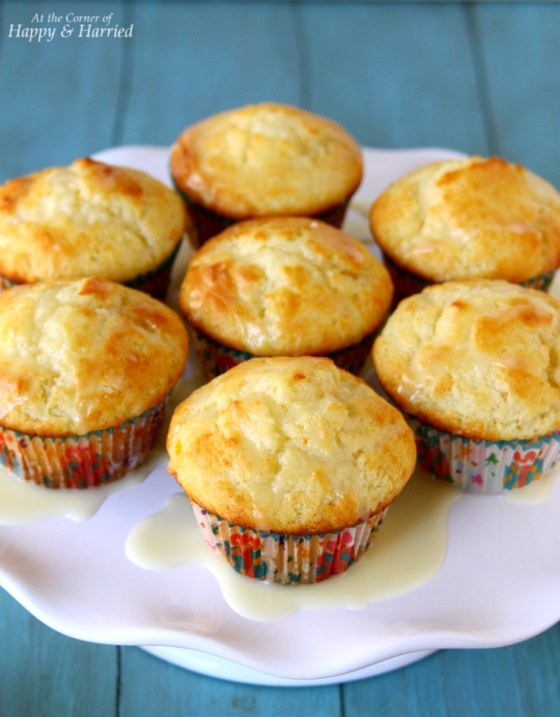 Fresh Orange Muffins With Glaze