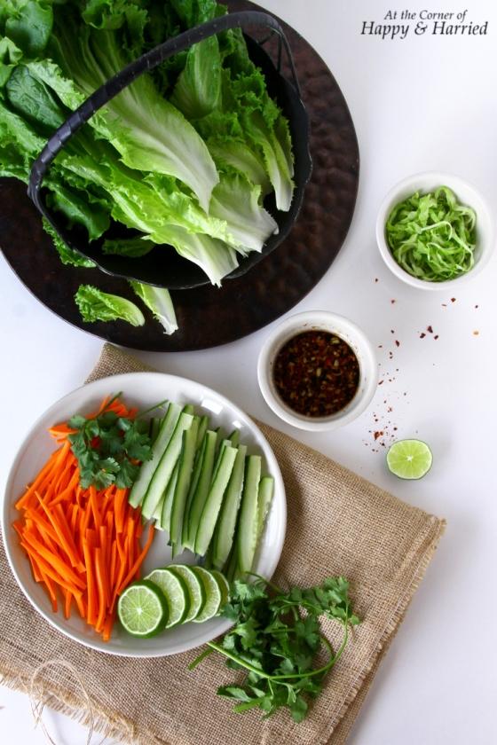 Fresh Vegetables For Lettuce Wraps
