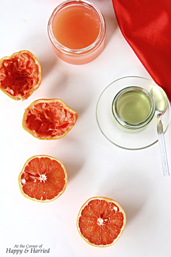 Grapefruit Juice and Sugar Syrup