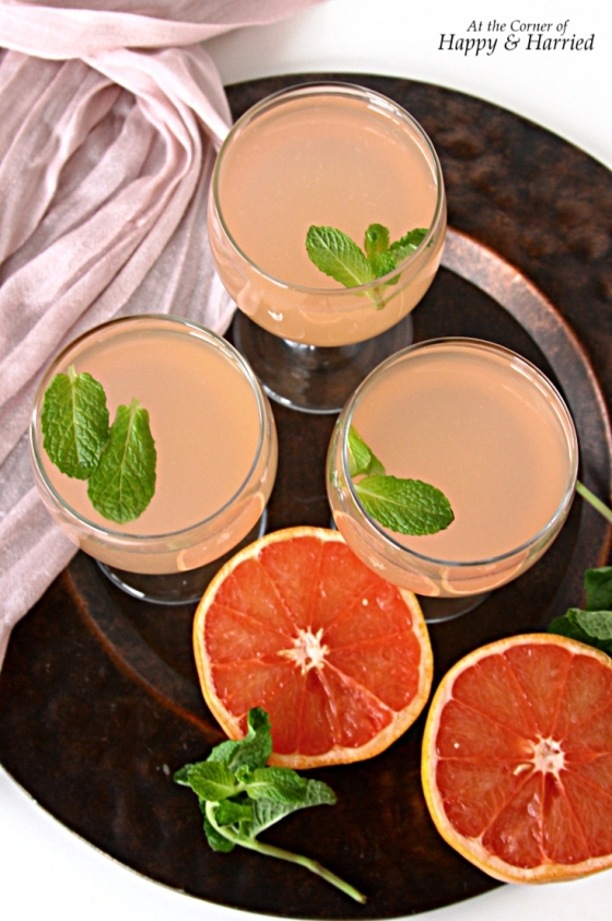 Grapefruit Juice With Ginger-Infused Simple Syrup