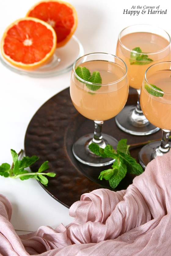 Grapefruit Juice With Ginger Simple Syrup